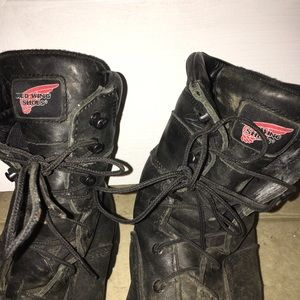 Redwing steel toe logger boots